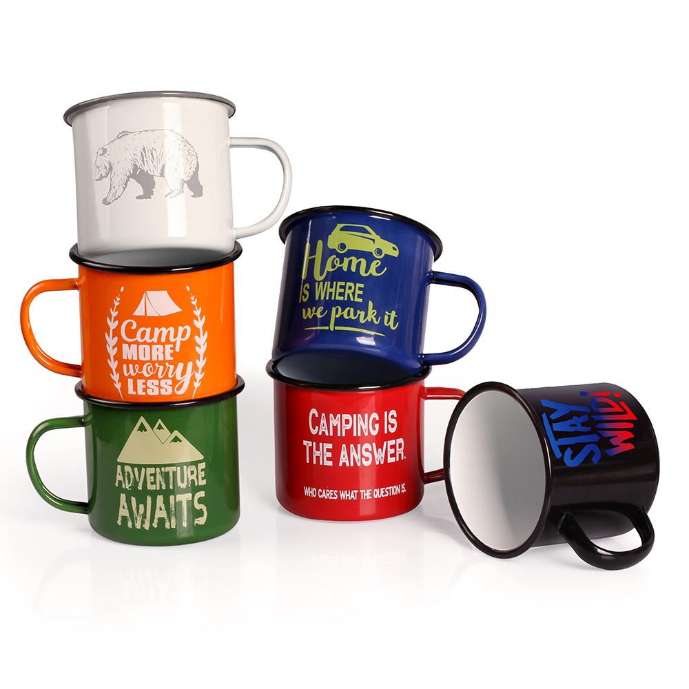 Wholesale Colorful Sublimation or Logo printing Custom Camping Enamel Mug Featured Image