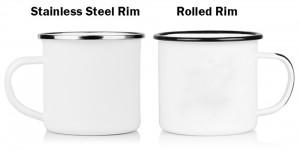 Wholesale Colorful Sublimation or Logo printing Custom Camping Enamel Mug