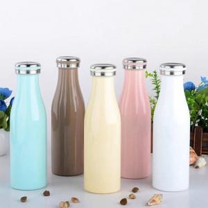 Custom Logo Water Bottle Custom Stainless Steel Sports Drink Flasks Milkybottle for Outdoor