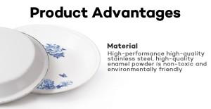Wholesale Enamelware Enamel Plate Dinner Plates for Kitchen