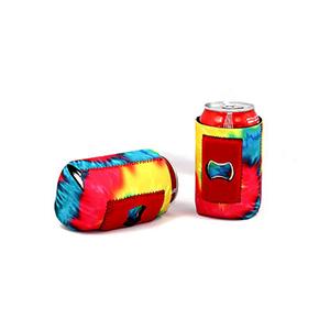 Neoprene Can Cooler With Bottle Opener
