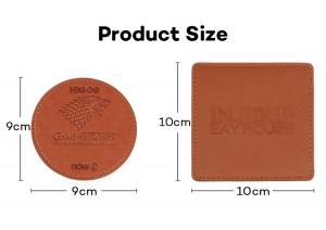 Wholesale Custom Logo Leather Coaster for Bottle