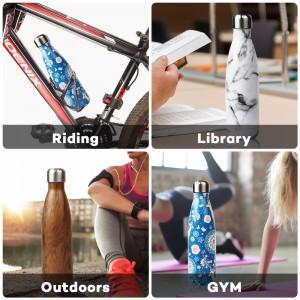 wholesale 17oz stainless steel water bottle coke shape bottle