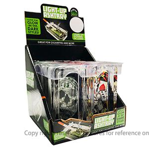 Prepainted Steel Strip Mugs - Cute Square Shape Glow In The Dark Sugar Skull Glass Ashtray – WELL
