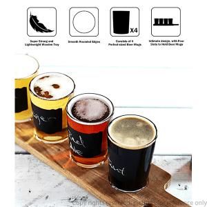 Wood Flight Beer Holder Tray