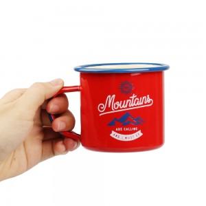 Hight Quality Custom Enamel Camping Mug For Travel