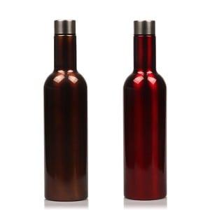 Stainless Steel Vacuumn Wine Shape Bottle