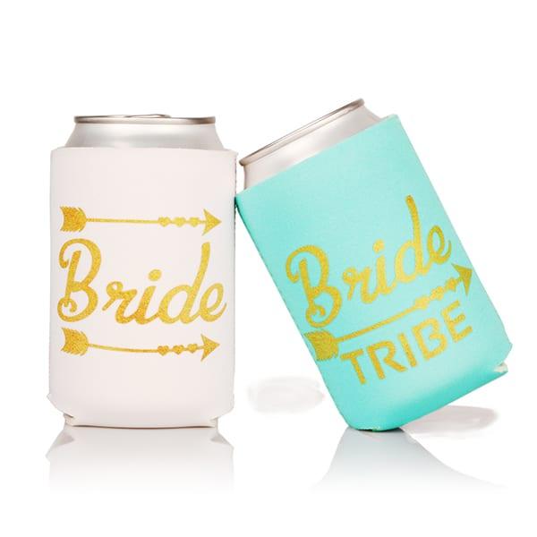 Galvanized Metal Sheet Neoprene Water Bottle Cooler Bag - Bride & Bride Tribe Can Cooler – WELL